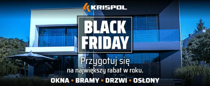 Black Friday na okna, bramy, drzwi, osłony